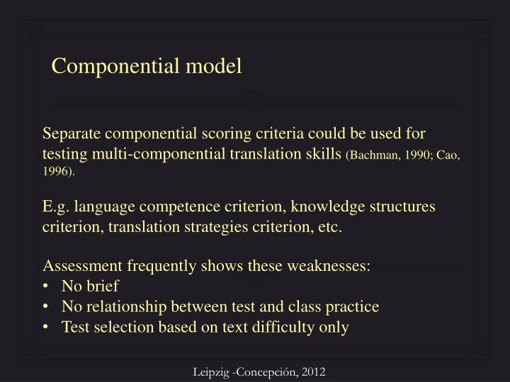 Componential model