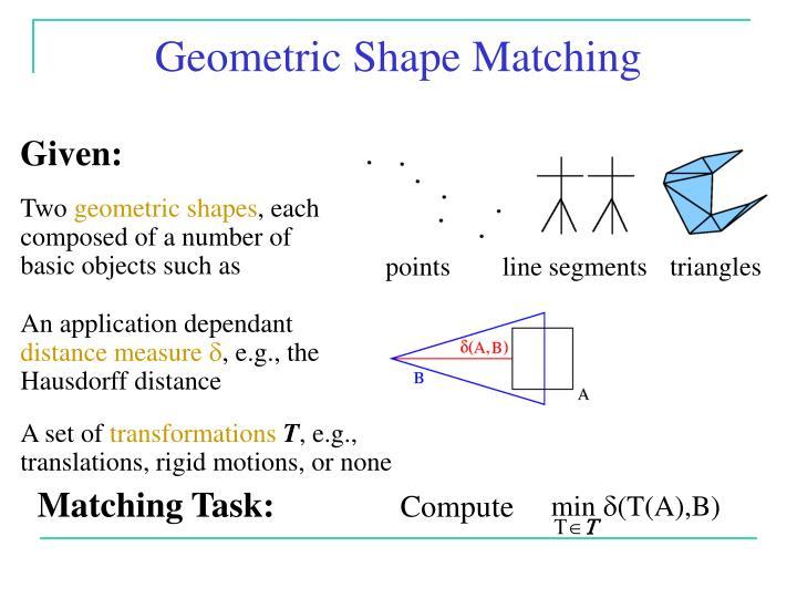 Geometric Shape Matching