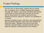 project findings