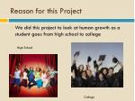 reason for this project