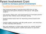 parent involvement grant