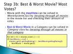 step 3b best worst movie most votes
