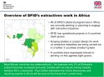overview of dfid s extractives work in africa