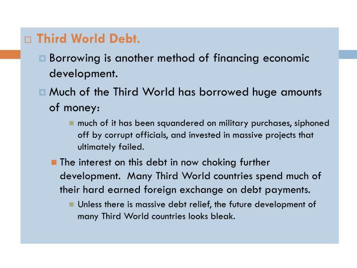 Third World Debt.