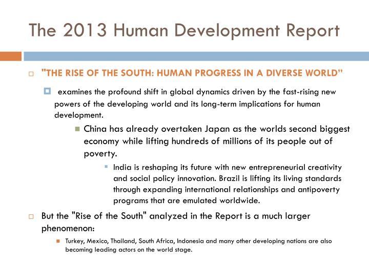 The 2013 Human Development Report