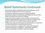 belief statements continued