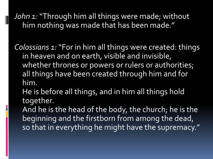 John 1: