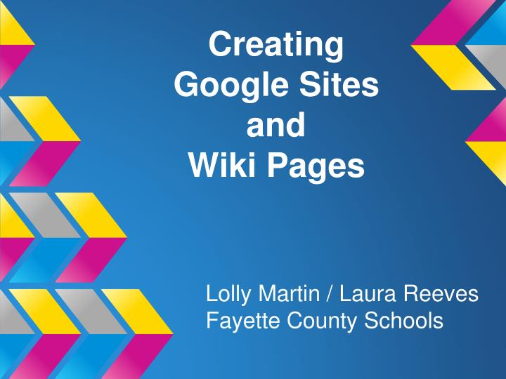 creating google sites and wiki pages n.