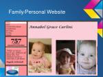 family personal website