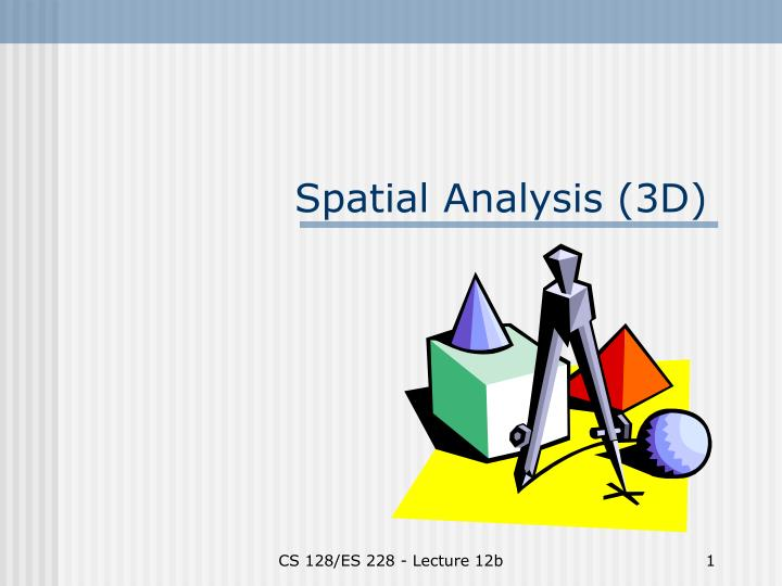 spatial analysis 3d n.