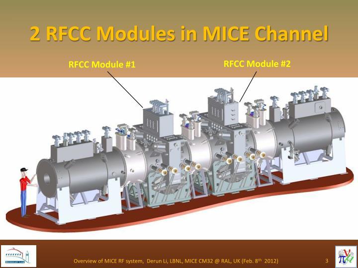 2 rfcc modules in mice channel