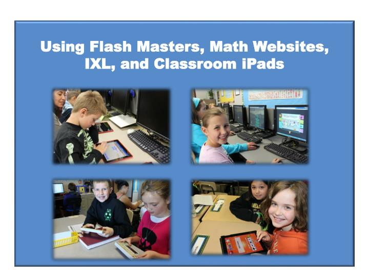 Using Flash Masters,