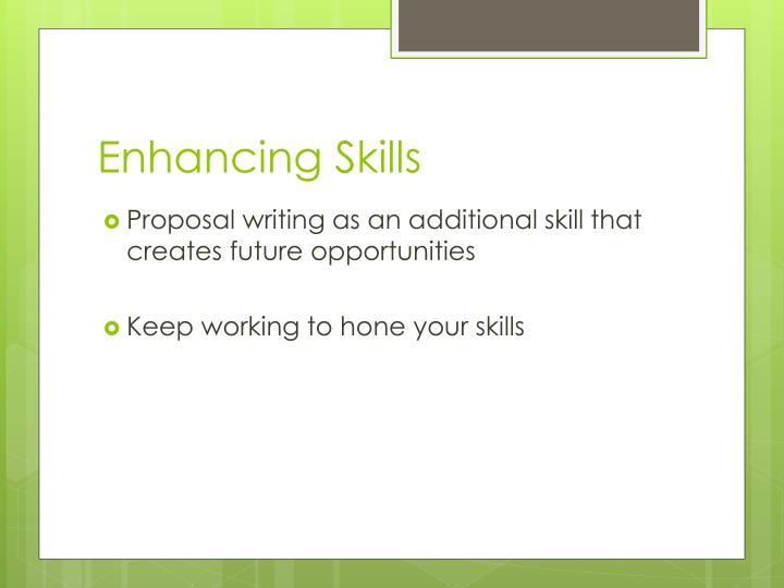 Enhancing Skills