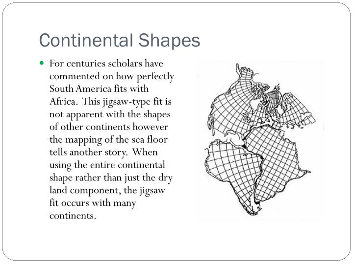 Continental Shapes