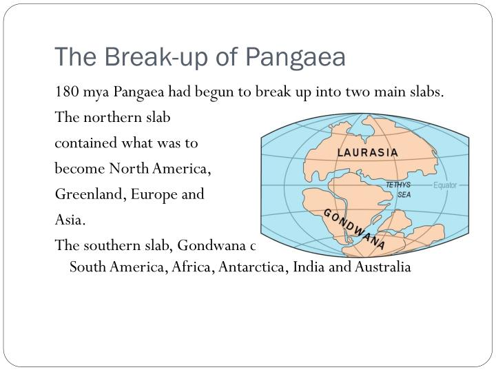 The Break-up of Pangaea