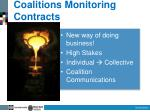 coalitions monitoring contracts