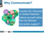 why communicate1