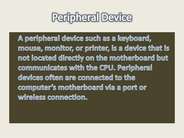 Peripheral Device
