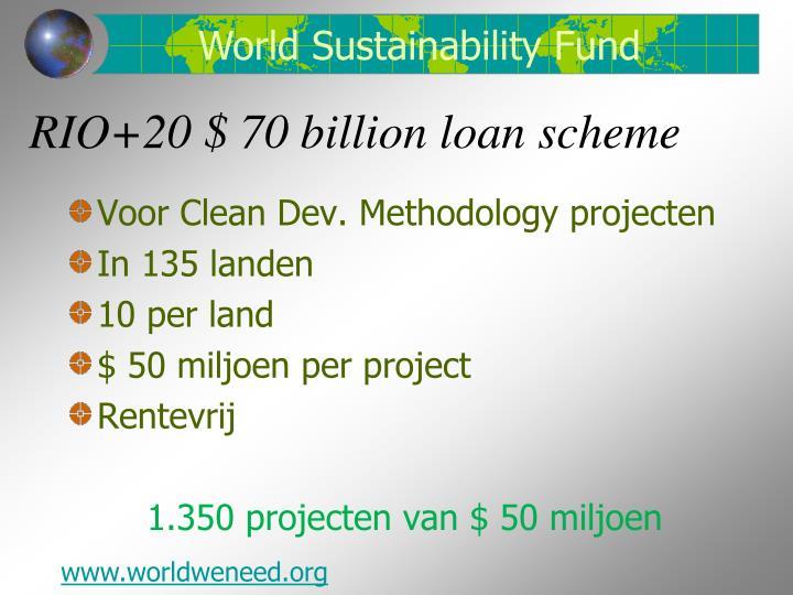 Rio 20 70 billion loan scheme