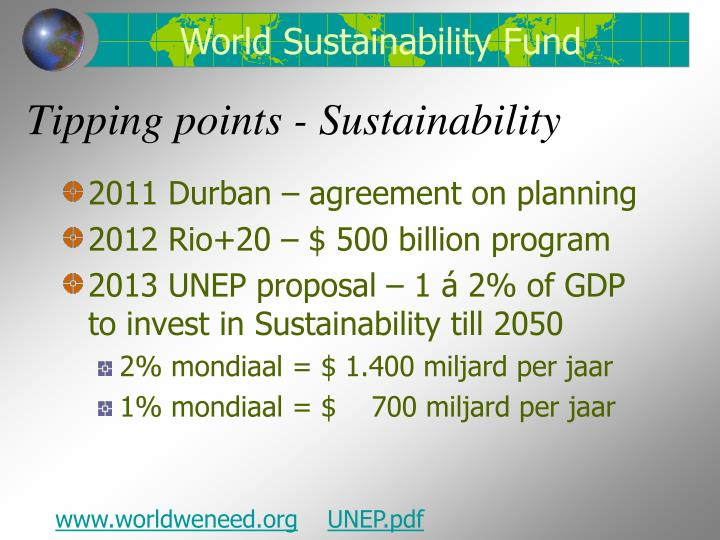 Tipping points sustainability
