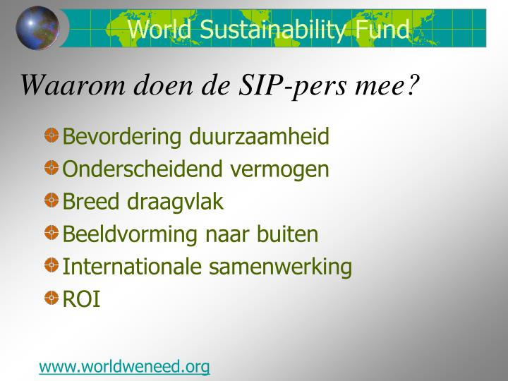 World Sustainability