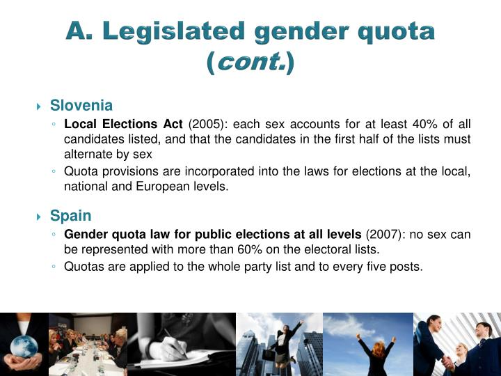 A. Legislated gender