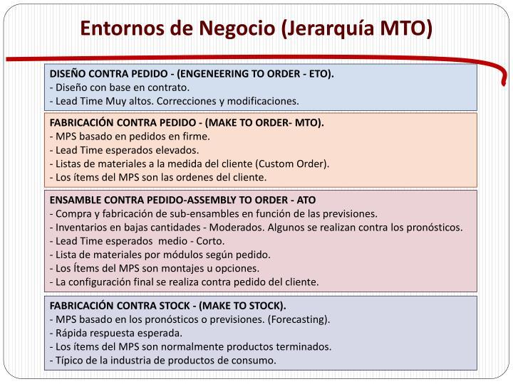 Entornos de Negocio (Jerarquía MTO)