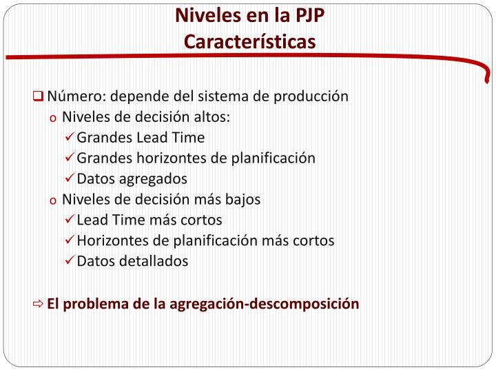 Niveles en la PJP