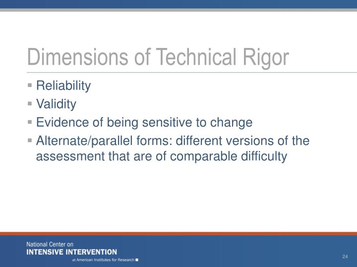 Dimensions of Technical Rigor