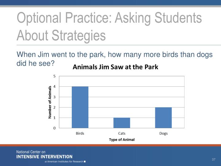 Optional Practice: Asking Students About Strategies