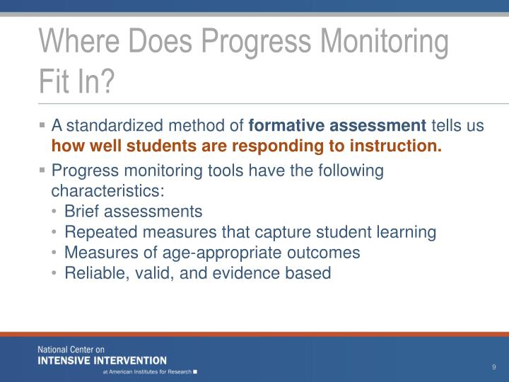 Where Does Progress Monitoring
