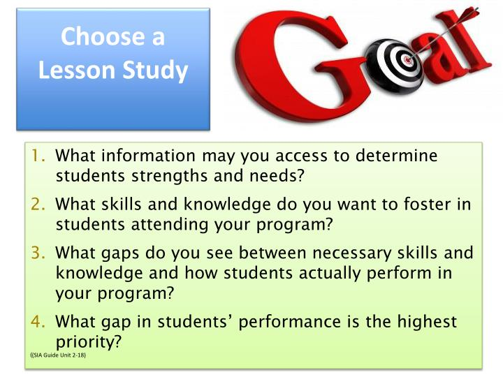 Choose a Lesson Study