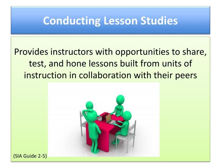 Conducting Lesson Studies