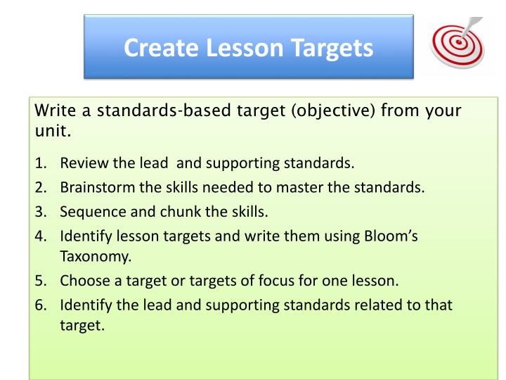 Create Lesson Targets