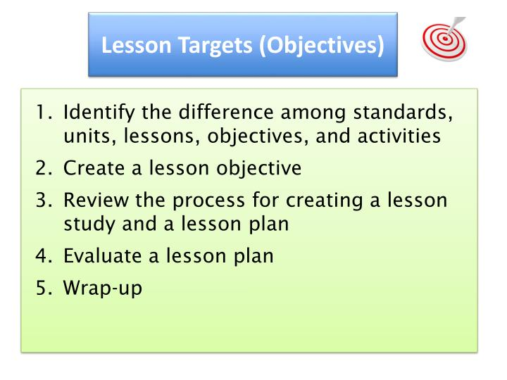 Lesson Targets