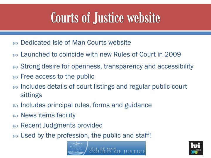 Courts of Justice website