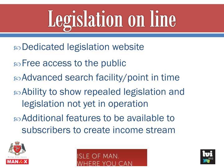 Legislation on line