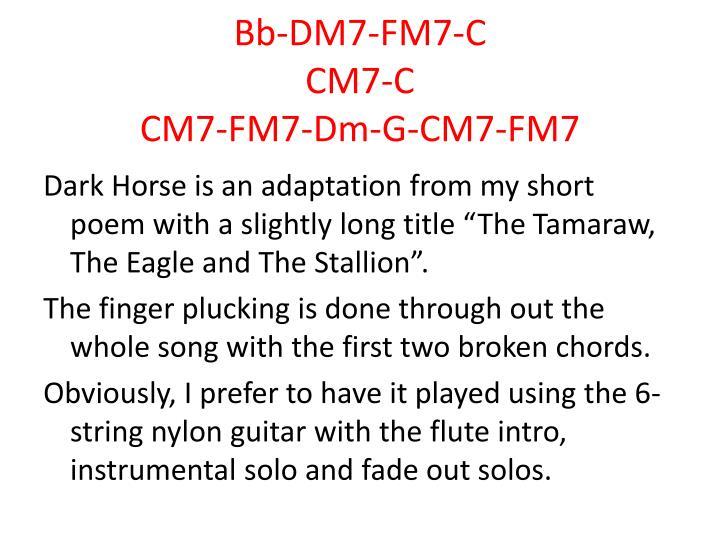 Bb-DM7-FM7-C
