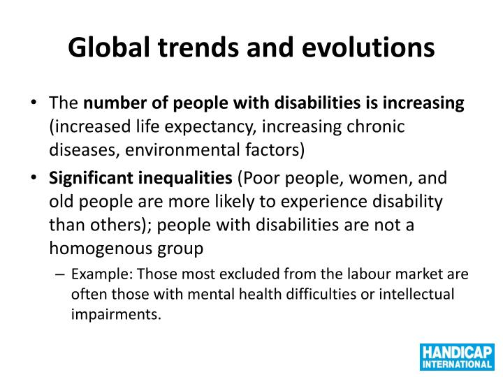 Global trends and evolutions
