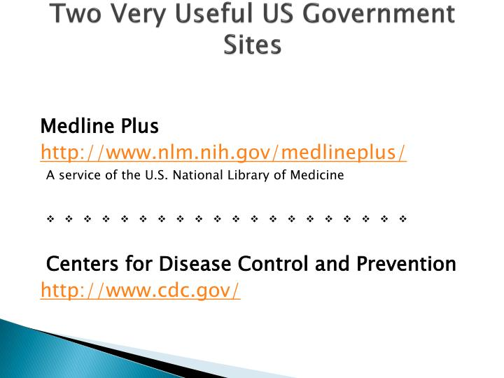 Two Very Useful US Government Sites