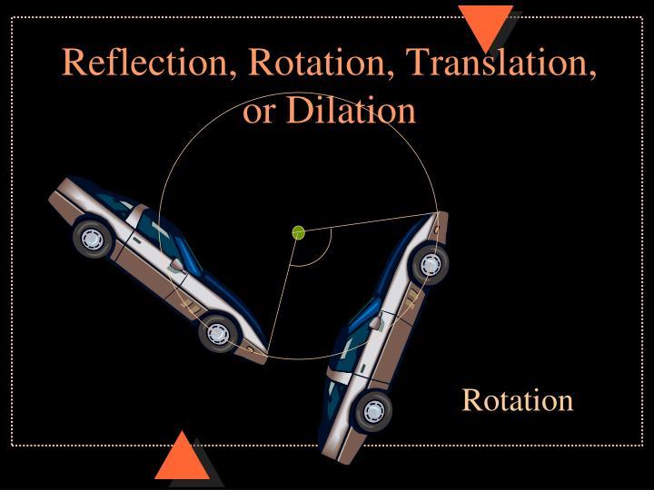 Reflection rotation translation or dilation