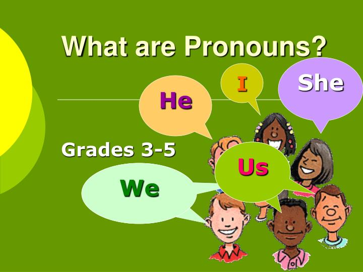 What are pronouns