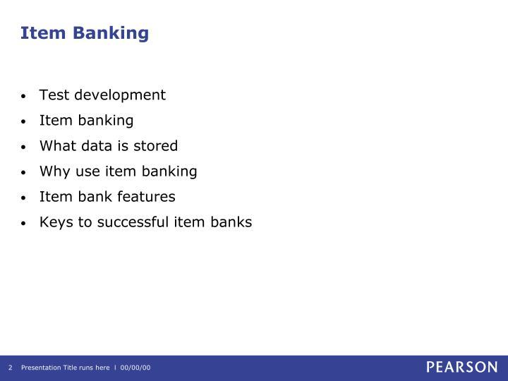 Item banking1