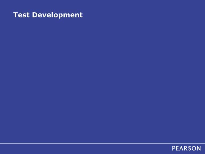 Test Development