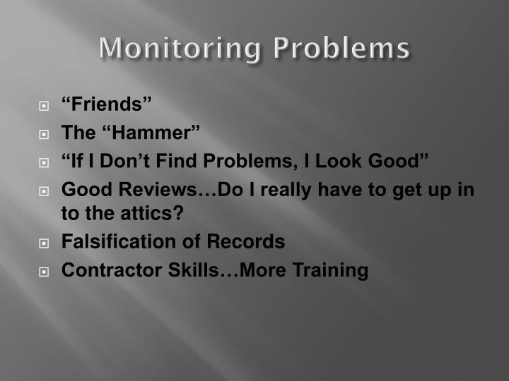 Monitoring Problems
