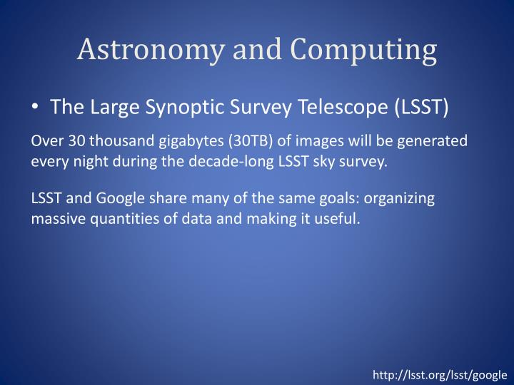 Astronomy and Computing