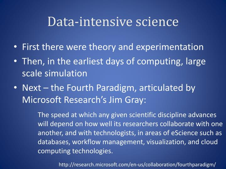 Data-intensive science