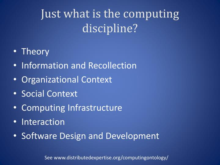 Just what is the computing discipline?