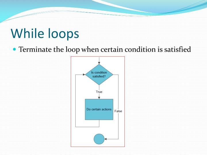 While loops