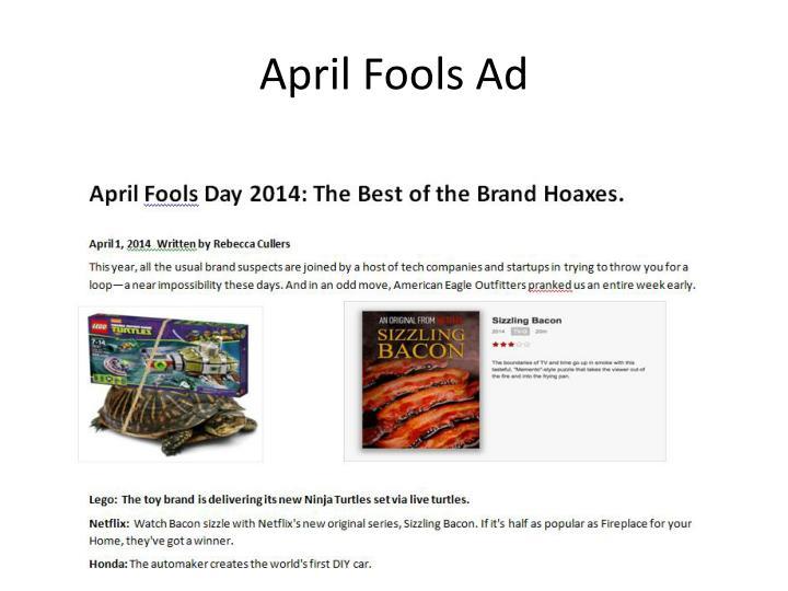 April fools ad